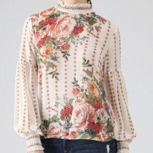Fancy in Gardens Floral Chiffon Top